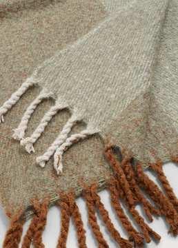 Violeta BY MANGO Maxi checked scarf
