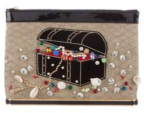 Charlotte Olympia Finders Keepers Canvas Pouch