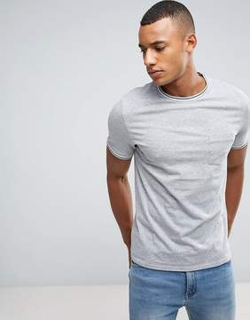 Celio T-Shirt With Contrast Tipping And Pocket