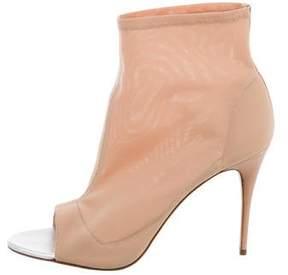 Jerome C. Rousseau Mesh Peep-Toe Ankle Boots