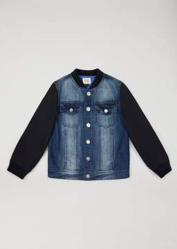 Armani Junior Denim And Fleece Jacket