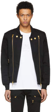 Pierre Balmain Black and Gold Zipper Jacket