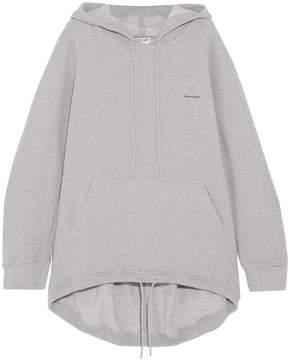 Balenciaga Cocoon Cotton-blend Jersey Hooded Top - Gray