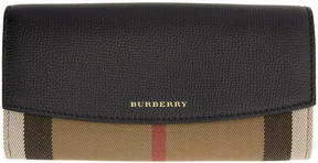Burberry Black Porter House Check Derby Wallet - BLACK - STYLE