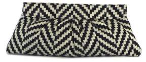 Lauren Merkin Grey & Cream Geo Clutch
