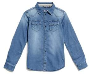 GUESS Boy's Knit Denim Shirt (7-18)