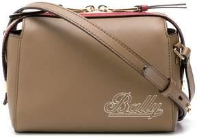 Bally logo embroidered cross-body bag