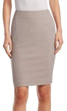 Akris Punto Jacquard Pencil Skirt
