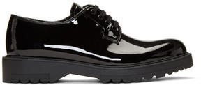 Prada Black Patent Lug Sole Oxfords