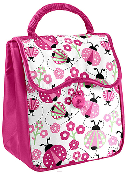Pink Ladybug Caitlin Insulated Lunch Bag