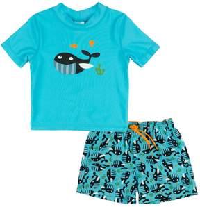 Trunks Baby Boy Kiko & Max Whales & Fish Rashguard & Swim Set