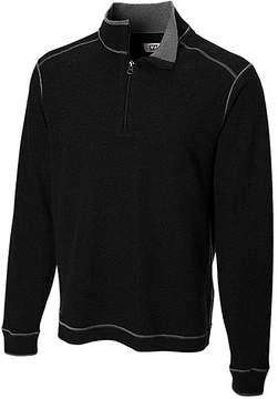 Cutter & Buck Black Overtime Half-Zip Pullover - Men