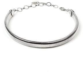 Amrita Singh Silvertone Omega Choker Necklace