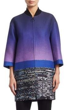 Akris Punto Long Twilight Print Coat