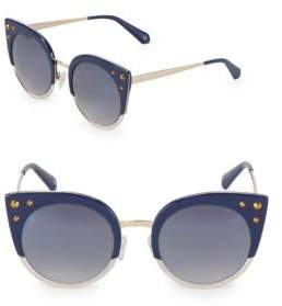 Balmain Tinted 52MM Clubmaster Sunglasses