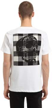 Hydrogen Skull & Check Cotton Jersey T-Shirt