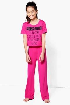 boohoo Girls My Xmas List Nightwear Set