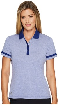 adidas Three Toned Pique Polo Women's Short Sleeve Pullover
