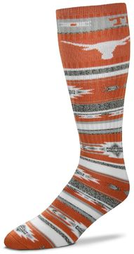 For Bare Feet Adult Texas Longhorns Tailgater Crew Socks
