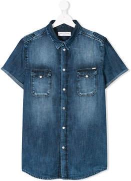 John Galliano Teen short sleeve denim shirt