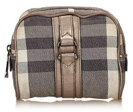Burberry Pre-owned: Plaid Jacquard Pouch. - GRAY X MULTI - STYLE