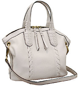 As Is orYANY Cassie Pebbled Leather Mini Convertible Satchel