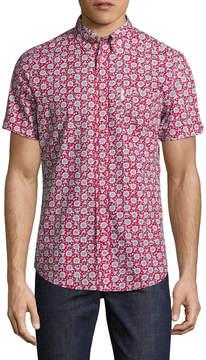 Ben Sherman Men's Soho Slim Fit Floral Cotton Sportshirt