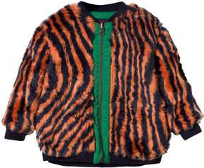 Bobo Choses Orange Faux Fur Reversible Hypnotized Jacket