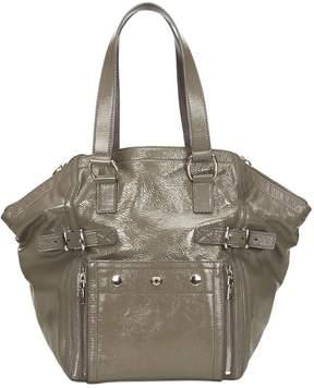 Saint Laurent Downtown patent leather handbag - GREEN - STYLE