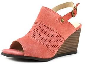 Very Volatile Hyde Women Open Toe Leather Orange Wedge Sandal.