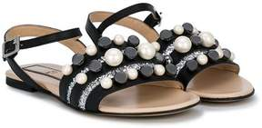 No.21 Kids TEEN embellished sandals
