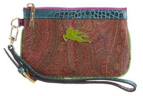 Etro Leather Trimmed Wristlet