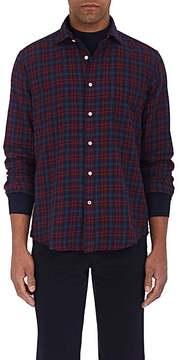 Hartford Men's Plaid Lightweight Stretch-Cotton Flannel Shirt