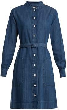 A.P.C. Jane mandarin-collar cotton-denim shirtdress