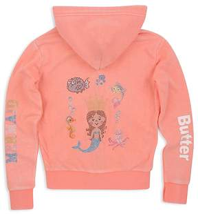 Butter Shoes Girls' Mermaid Appliqué Hoodie - Big Kid