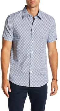 Ben Sherman Geo Target Print Short Sleeve Regular Fit Shirt