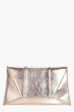boohoo Panelled Envelope Clutch