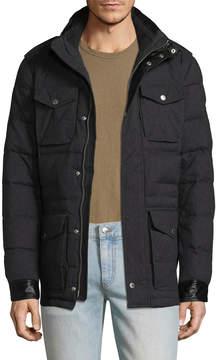 J. Lindeberg Men's Foreman 56 Quilted Melange Puffer Jacket