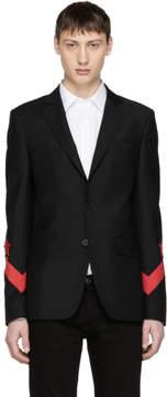 Givenchy Black Chevron Star Blazer