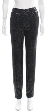 Erin Fetherston Mid-Rise Sequin Pants