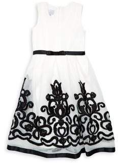 Iris & Ivy Girl's Embroidered Mesh A-Line Dress