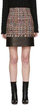 Alexander McQueen Multicolored Tweed Mini Skirt