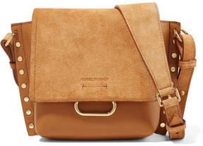 Isabel Marant Kleny Embellished Leather And Suede Shoulder Bag - Brown