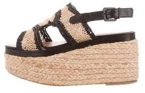 Robert Clergerie Flatform Espadrille Sandals