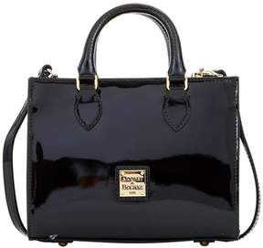 Dooney & Bourke Patent Mini Janine Satchel - BLACK - STYLE