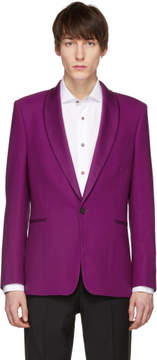 Paul Smith Purple Shawl Lapel Blazer