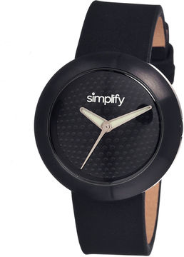 Simplify Unisex The 1200 Black Leather-Band Watch Sim1207