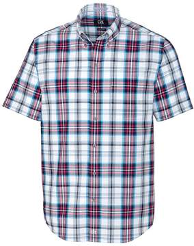 Cutter & Buck Red & Blue Plaid Nicolai Wrinkle-Free Button-Up - Men