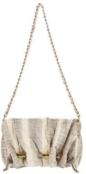 Halston Watersnake Shoulder Bag