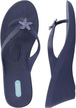OKA b. Navy Estee Wedge Sandal - Women